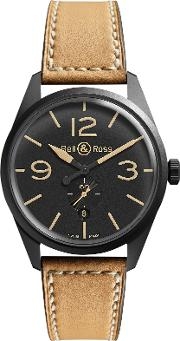 Bell & Ross , Brev123 Heritage Men's Vintage Original Leather Strap Watch