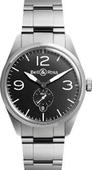Bell & Ross , Brv123 Bl Stsst Men's Vintage Original Automatic Stainless Steel Bracelet Strap Watch