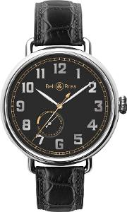 Bell & Ross , Brww197 Her Stscr Men's Heritage Automatic Alligator Strap Watch