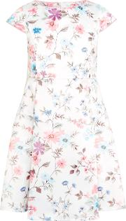 John Lewis Heirloom Collection , Girls' Floral Print Dress, White