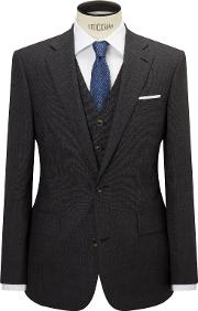Chester By Chester Barrie , Semi Plain Wool Tailored Suit Jacket, Grey