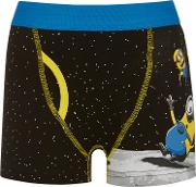 Universal , Boys' Minion Space Trunks, Pack Of 2, Black