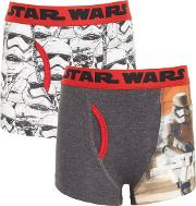 Universal , Boys' Star Wars Trunks, Pack Of 2, Grey