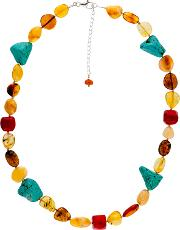Bejewelled , Be Jewelled Sterling Silver Faceted Bead Necklace
