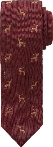 John Lewis Heirloom Collection , Boys' Stag Knitted Tie