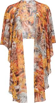 Gina Bacconi , Abstract Printed Chiffon Shawl