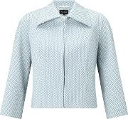 Bruce By Bruce Oldfield , Diamond Jacquard Jacket, Blue