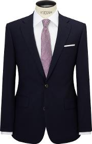 Chester By Chester Barrie , Hopsack Wool Tailored Suit Jacket, Navy