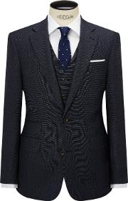 Chester By Chester Barrie , Pindot Wool Tailored Suit Jacket, Airforce