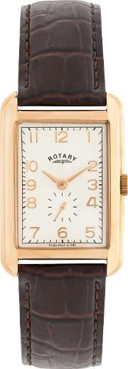 Rotary , Men's Portland Leather Strap Watch