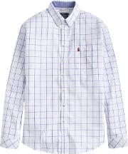 Joules , Welford Windowpane Check Classic Fit Shirt, Blue Overcheck
