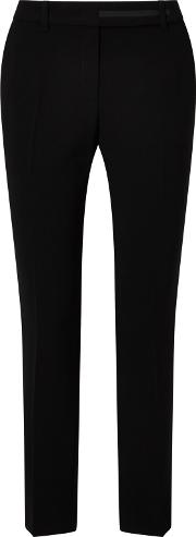 Marc Cain , Cropped Tapered Leg Trousers, Black