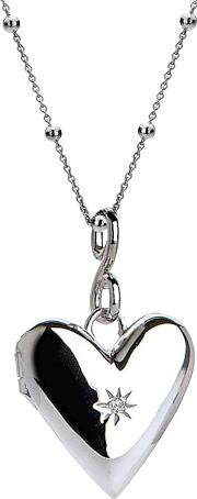 Hot Diamonds , Addicted To Love Locket Pendant Necklace, Silver