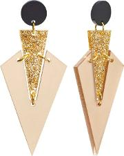 Toolally , Mini Art Deco Drop Earrings
