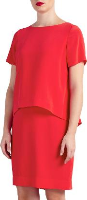 Bruce By Bruce Oldfield , Double Layer Dress, Watermelon