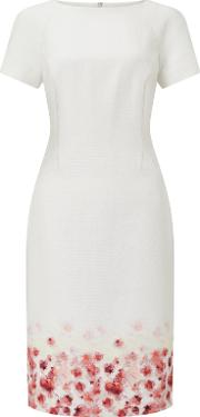 Bruce By Bruce Oldfield , Floral Placement Dress, Ivory