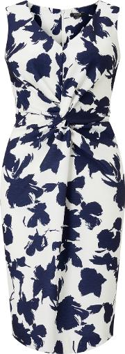 Bruce By Bruce Oldfield , Opaque Floral Dress, Silvernavy