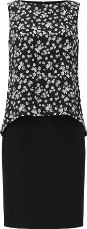 Bruce By Bruce Oldfield , Printed Double Layer Dress, Black