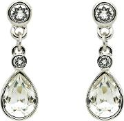 Cachet , Plated Swarovski Crystal Pear Stone Drop Earrings