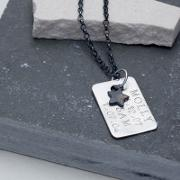Chambers & Beau , Personalised Men's Dog Tag Necklace