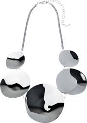 Adele Marie , Polished Disc Statement Necklace