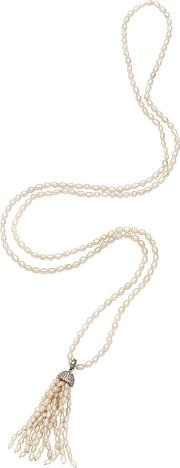 Adele Marie , Freshwater Pearl Tassel Necklace, Natural