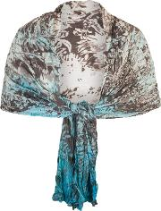 Chesca , Painted Ombre Crush Pleat Shawl