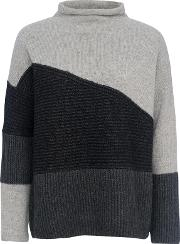 French Connection , Patchwork Tonal Jumper