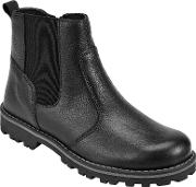 John Lewis , Children's Leather Chelsea Boots, Black