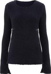 Finery , Clissold Directional Rib Knitted Jumper, Navy