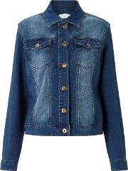 Collection Weekend By John Lewis , Stretch Denim Jacket, Mid Blue
