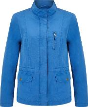 Collection Weekend By John Lewis , Utility Jacket, Mid Blue