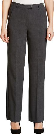 Gardeur , City Straight Leg High Rise Trousers, Grey