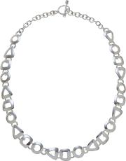 Andea , Sterling Silver Assorted Cut Out Necklace