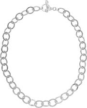 Andea , Sterling Silver Oval Links Necklace
