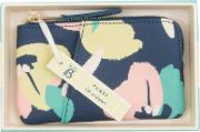 Busy B , Floral Coin Purse, Navy