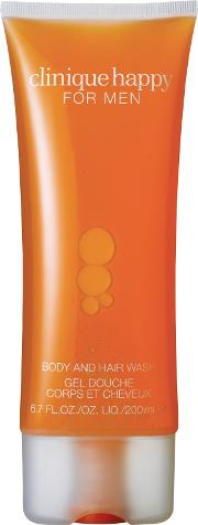 Clinique , Happy For Men Body And Hair Wash, 200ml