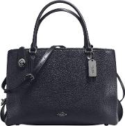 Coach , Brooklyn 34 Leather Carryall Tote Bag