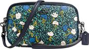 Coach , Yankee Floral Across Body Purse, Teal