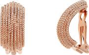 Finesse , Textured Clip On Earrings, Rose Gold