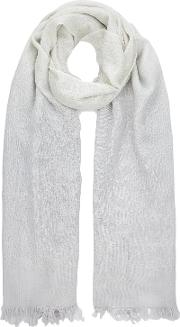 Jacques Vert , Metallic Ombre Scarf, Mid Grey