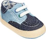 John Lewis , Baby Espadrille Boat Shoes, Blue