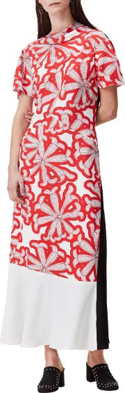 Finery , Catel Dot To Dot Cactus Dress, Red