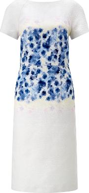 Bruce By Bruce Oldfield , Floral Placement Dress, Blue