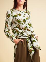 Modern Rarity , Archive Lily Print Tie Front Tunic