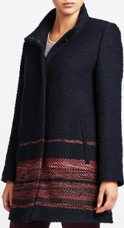 Gerry Weber , Gerry Weber Single Breasted Coat With Border Trim