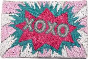From St Xavier , Xoxo Foldover Clutch