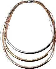 Adele Marie , 3 Row Magnetic Clasp Layered Necklace