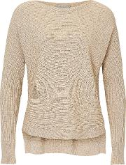 Betty & Co , . Ribbed Knit Top, Pumice Stone