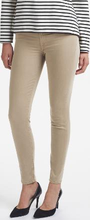 7 For All Mankind , High Waist Skinny Slim Illusion Cropped Jeans